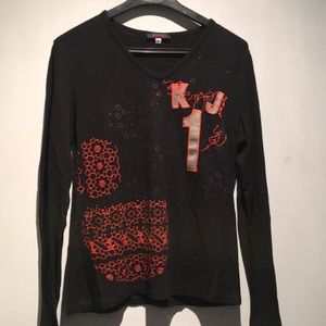 Kenzo Jeans Embroidered Top Size M